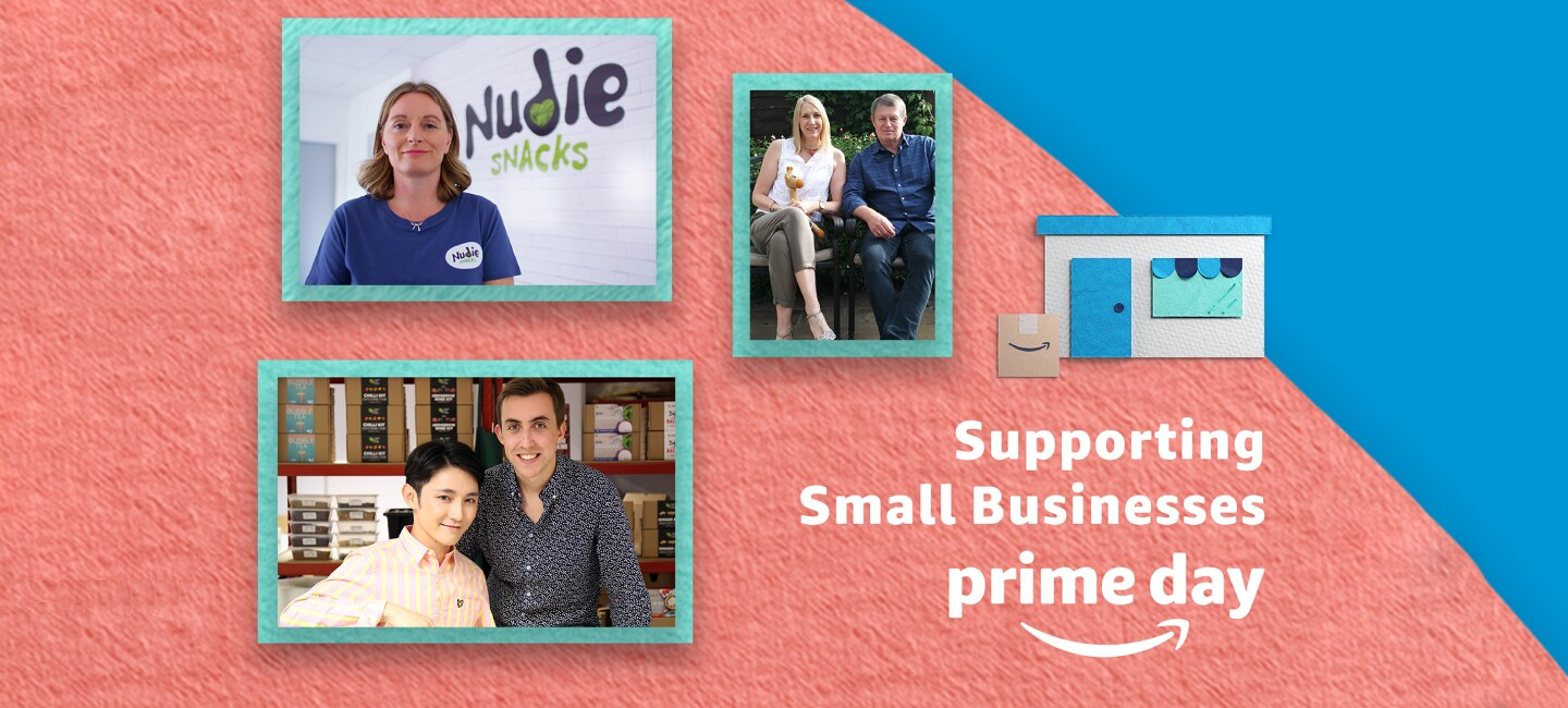 An image showcasing the small businesses that we are supporting this year with Prime Day
