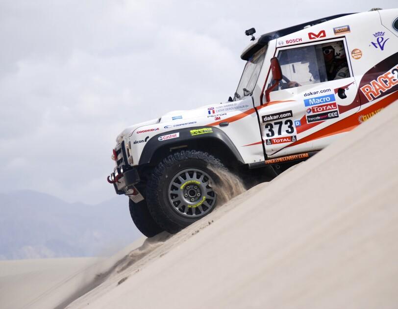 The Race2Recovery team racing the Paris-Dakar rally