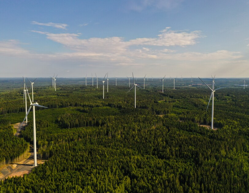 Amazon wind farm in Sweden