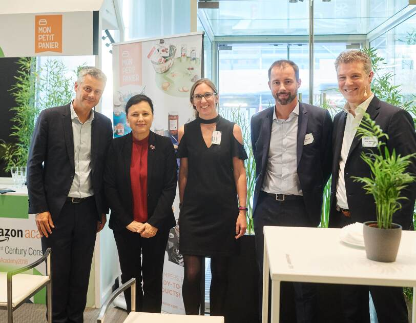 Amazon EU Global Corporate Affairs Team with Vera Jurova