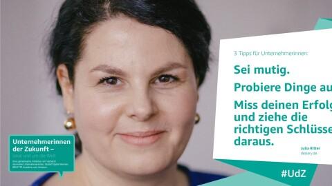Julia Ritter, Teilnehmerin von Unternehmerinnen der Zukunft.