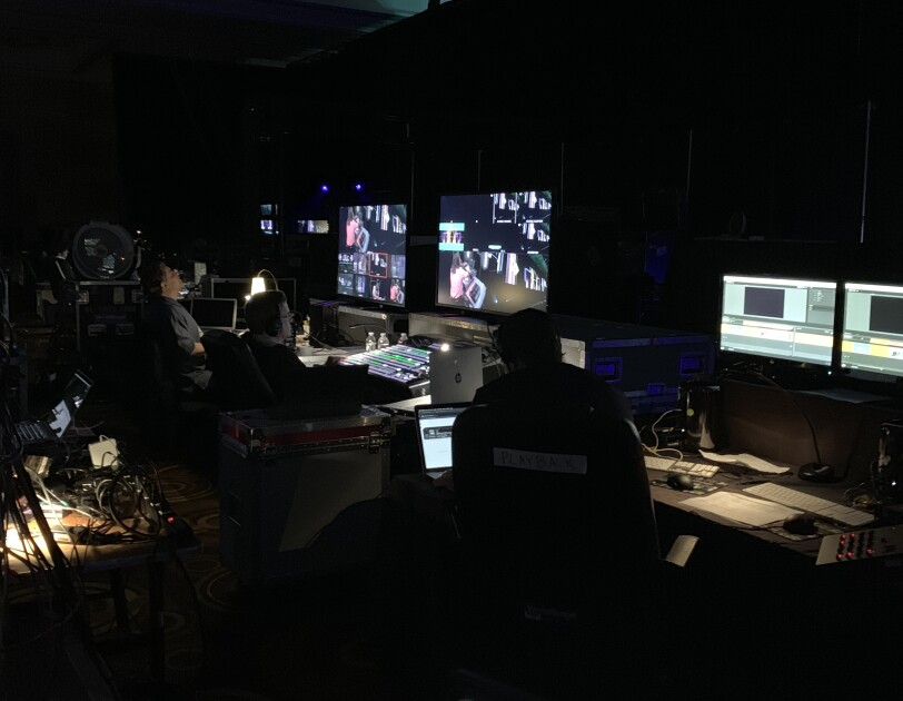Backstage at re:MARS keynote
