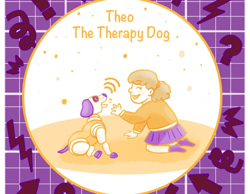 Theo the Therapy Dog - People's Choice