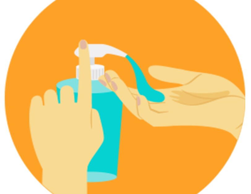 graphic depicting Hand wash