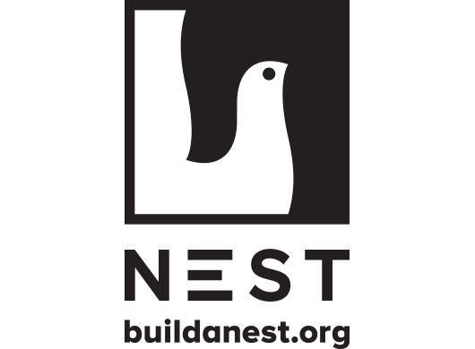 Nest logo on white background.