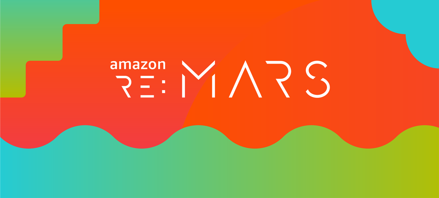 re:MARS logo on a bright background of blue, green, and orange.