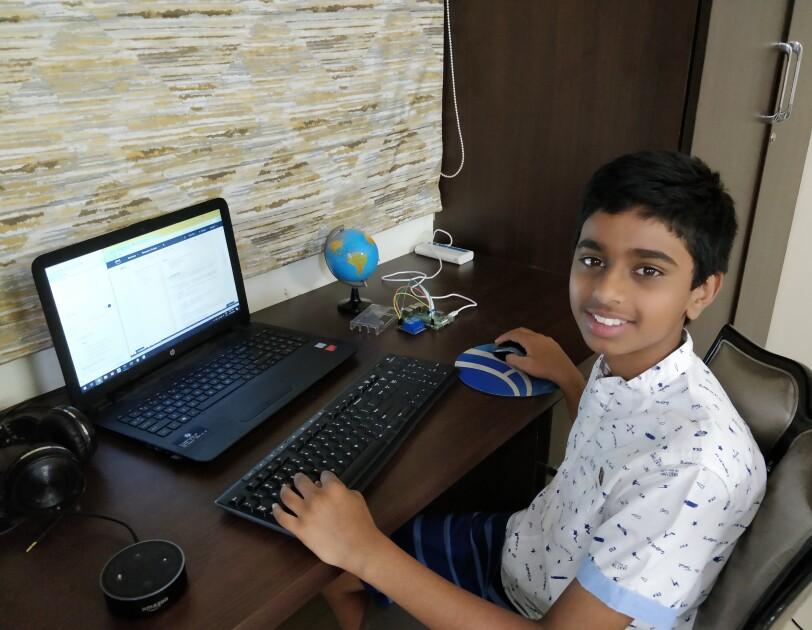 School boy Shyaam builds skills for Alexa