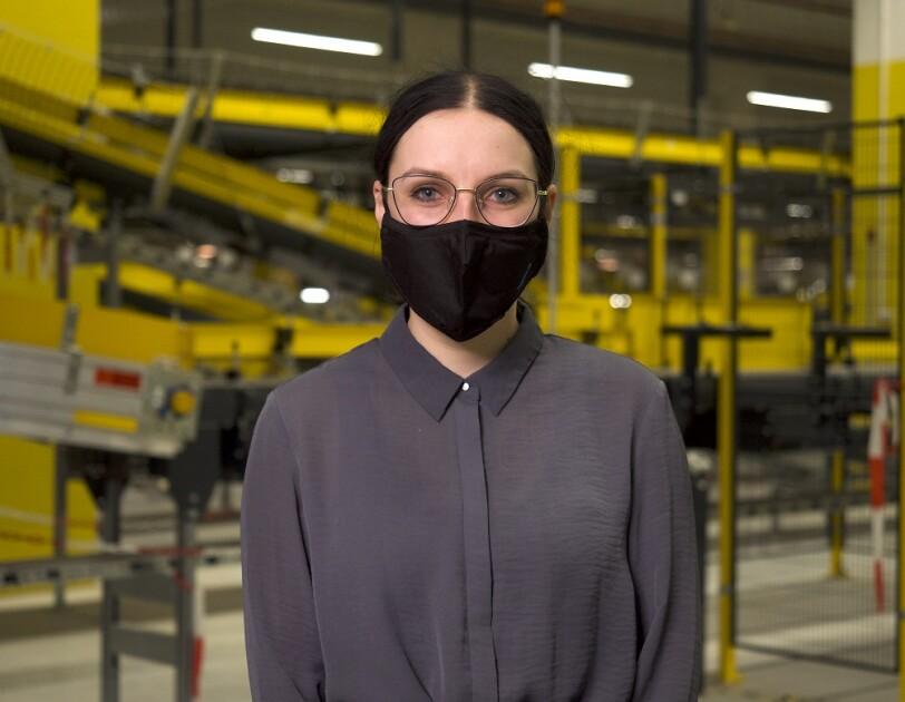 Natalia Gołębiewska, pracownik centrum logistycznego Amazon w Gliwicach